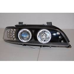 SET OF HEADLAMPS DAY LIGHT BMW E39 95-03 BLACK
