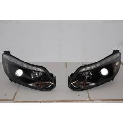 Set Of Headlamps Day Light Ford Focus 2011-2014, Blinker Led, Chromed