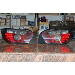 Set Of Rear Tail Lights Seat Ibiza 2008 3-Door Led Red/Smoked
