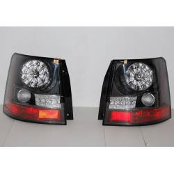 Rear Lights Range Rover Sport 06 Led Black  Flashing Led