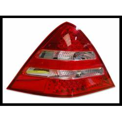 Set of rear tail lights Mercedes SLK R170 Led chromed/red 96-04