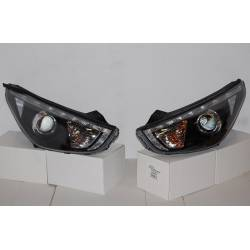 SET OF HEADLAMPS HYUNDAI IX35 10 DAYLIGHT BLACK