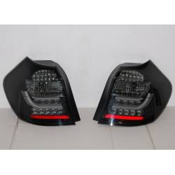 Rear Lights BMW E87 / E81 07-11 Black/Smoked Flashing Led