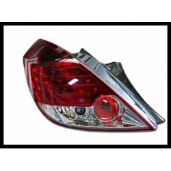 SET OF REAR TAIL LIGHTS OPEL CORSA D LED CHROMED/RED 3 D