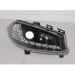 Set Of Headlamps Day Light Renault Megane 2003-2006 Black & Blinker Led