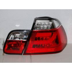 Set Of Rear Tail Lights Cardna BMW E46 2002-2005 4-Door Led Chromed/Red Lightbar