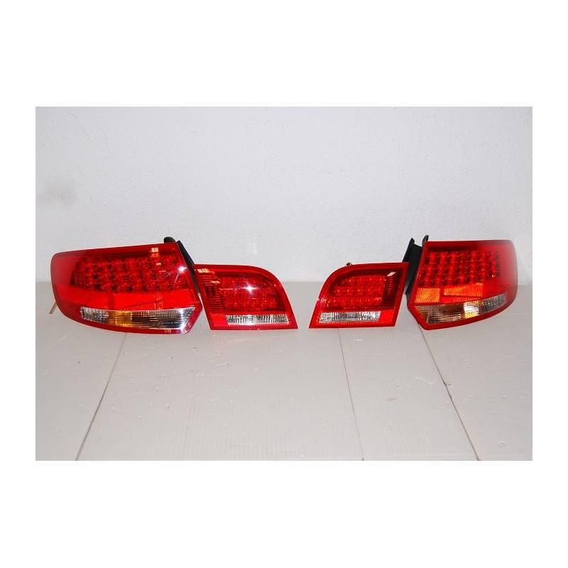 Set Of Rear Tail Lights Audi A3 Sportback '04-08 Led Red