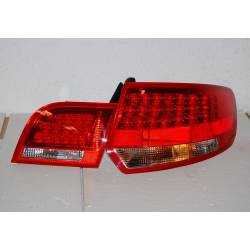 SET OF REAR TAIL LIGHTS AUDI A3 SPORTBACK '04-08 LED RED/BLACK