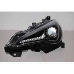 SET OF HEADLAMPS TOYOTA GT 86 2012 DAYLIGHT BLACK XENON