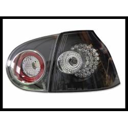 Set Of Rear Tail Lights Volkswagen Golf 5, Led Black II