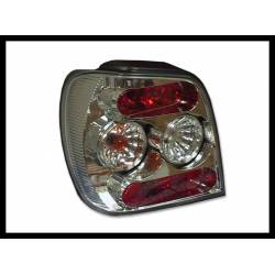 SET OF REAR TAIL LIGHTS VOLKSWAGEN POLO 1996-1999 LEXUS CHROMED