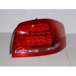 Set Of Rear Tail Lights Cardna Audi A3 09-11, Led Red