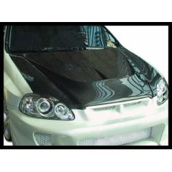 Carbon Fibre Bonnet Honda Civic 1996 2/3/4-Door, With Air Intake