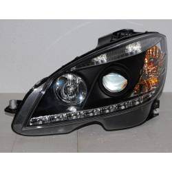 Set Of Headlamps Day Light Mercedes W204 2007-2010 Black
