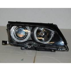 SET OF HEADLAMPS ANGEL EYES BMW E46 2002-2005, 4 DOORS, BLACK