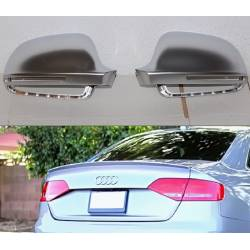 LOWER SPOILER AND CHROMED MIRROR COVERS AUDI A4 B8 LOOK RS4 2009-2012