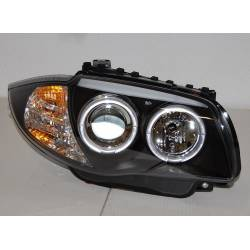 Set Of Headlamps Angel Eyes BMW E87/E81/E88/E82 04-11 Black