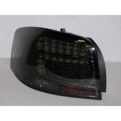 Set Of Rear Tail Lights Audi A3 2003-2008 Led Black Smoked