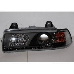 Set Of Headlamps Day Light BMW E36 1992-1998, 4 Doors, Black