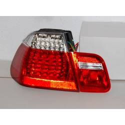 SET OF REAR TAIL LIGHTS BMW E46 1998-2001 4-DOOR LED RED/CHROMED
