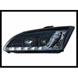 Set Of Headlamps Day Light Ford Focus 2005, Black