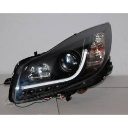 Set Of Headlamps Day Light Opel Insignia 08 DRL Lti Black