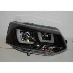 Set Of Headlamps Day Light Volkswagen T5 2009 Black