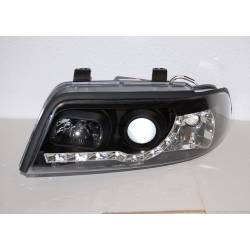 Set Of Headlamps Day Light Audi A4 1999-2001, Black