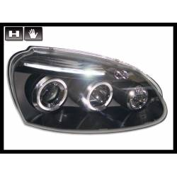 Set Of Headlamps Angel Eyes Volkswagen Golf 5 Black