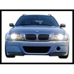 Front Bumper BMW E46 98-05, 2 Or 4-Door With Carbon Fibre Tips Look CSL