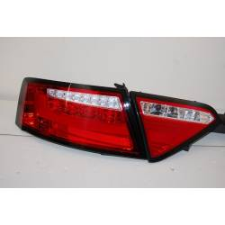 Set Of Rear Tail Lights Audi A5 2-4D 07-09 Led Red Cardna Flashing Led