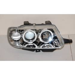 Set Of Headlamps Angel Eyes Citroen Saxo Phase I, Chromed, Model II