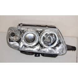 Set Of Headlamps Angel Eyes Citroen Saxo Phase I, Chromed