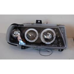 Set of headlamps day light Seat Ibiza 1993 black