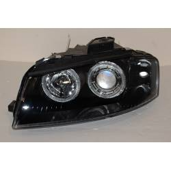 SET OF HEADLAMPS DAY LIGHT AUDI A3 2003-2008 BLACK