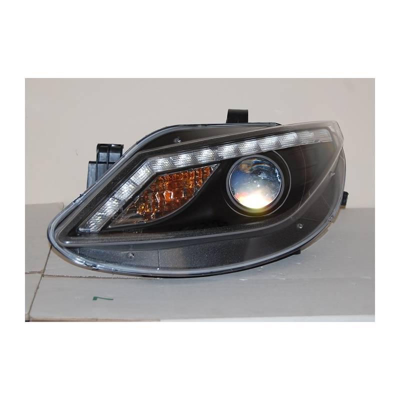 set of headlamps day light seat ibiza 2009 black blinker. Black Bedroom Furniture Sets. Home Design Ideas